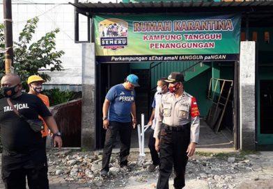 Kunjungan Kapolsek Klojen di Posko Kampung Tangguh Penanggungan