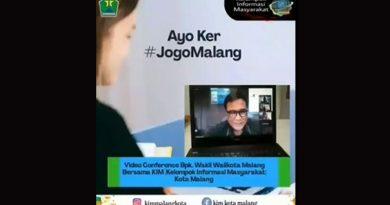 Video Converence Bpk. Wakil Walikota Malang bersama Kelompok Informasi Masyarakat (KIM) Kota Malang