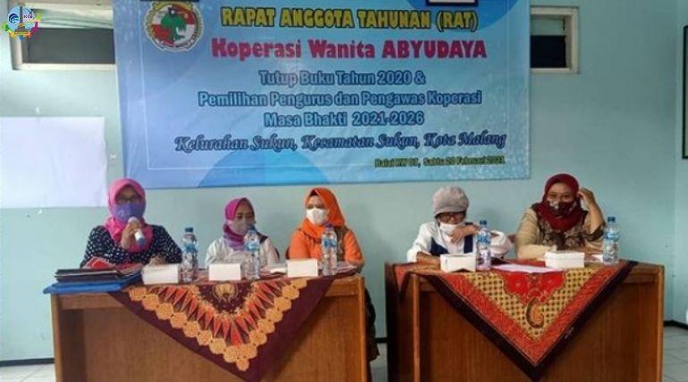Rapat Anggota Tahunan Koperasi Wanita Abyudaya Kelurahan Sukun