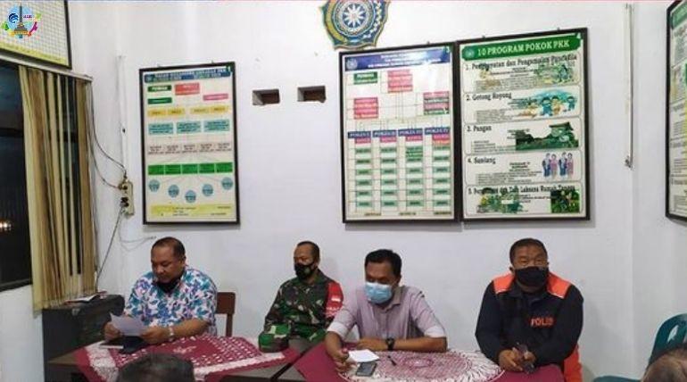 Rapat Koordinasi Pelaksanaan PPKM Mikro di RT dan RW Kelurahan Sukun