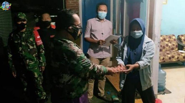 Pemantauan Pelaksanaan PPKM Mikro Lurah Sukun Blusukan Kampung