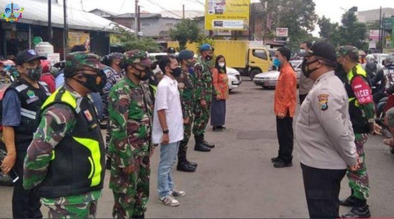 Operasi Yustisi Gabungan Memantapkan Pelaksanaan PPKM Mikro di Wilayah Sukun