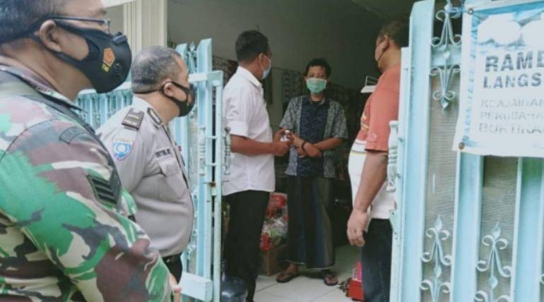 Kunjungan dan Pantauan Stakeholder Kelurahan Sukun ke Keluarga Pasien COVID-19